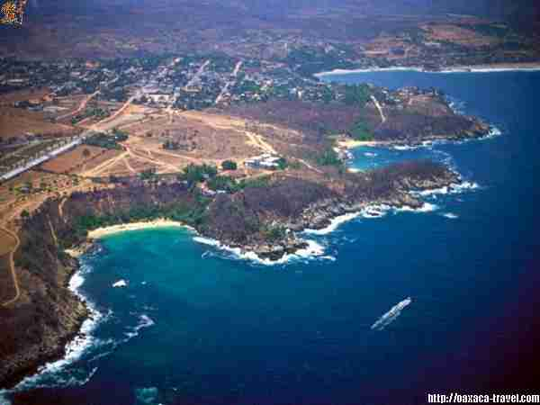 Air view of Puerto Escondido Bay